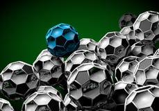 abstract footballl soccer 3d Stock Photos