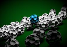 abstract footballl soccer 3d Royalty Free Stock Image