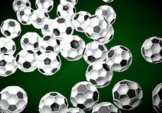 Abstract footballl soccer 3d. Shapes background vector illustration