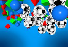 abstract footballl soccer 3d Stock Images