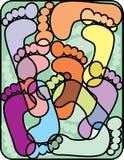 Abstract footprints Stock Image