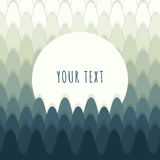 Abstract forest design with text box for your content Stock Photography