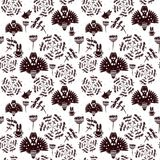 Abstract forest. Grunge seamless pattern. Vector Royalty Free Stock Images