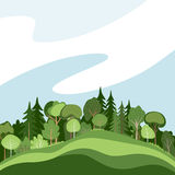 Abstract forest. Illustration of green abstract forest or grove Royalty Free Stock Photos