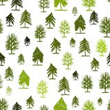 Abstract forest pattern with trees for your design Stock Image