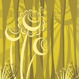 Abstract forest scene Stock Image