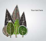 Abstract forest, set Royalty Free Stock Image