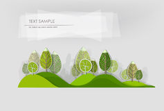 Abstract forest, set Royalty Free Stock Photos