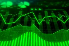 Investment, trade, finance and analysis concept. Abstract forex chart background. Investment, trade, finance and analysis concept. 3D Rendering Royalty Free Stock Photo