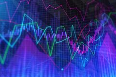 Investment, trade, finance and banking concept. Abstract forex chart background. Investment, trade, finance and banking concept. 3D Rendering Royalty Free Stock Photography