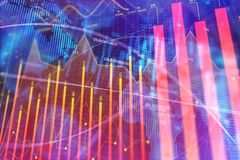 Investment, trade, finance and information concept. Abstract forex chart background. Investment, trade, finance and information concept. 3D Rendering Stock Photos