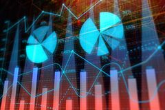 Investment, trade, finance and market concept. Abstract forex chart background. Investment, trade, finance and market concept. 3D Rendering Royalty Free Stock Photography