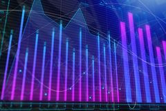Investment, trade, finance and stock concept. Abstract forex chart background. Investment, trade, finance and stock concept. 3D Rendering Stock Photo