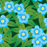 Abstract forget-me-nots flowers background. Royalty Free Stock Photography