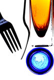 Abstract Fork. And glassware background design Royalty Free Stock Photography