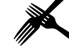 Abstract Fork Royalty Free Stock Photo