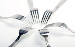 Abstract fork background as a food concept Stock Photography