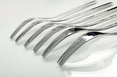 Abstract fork background as a food concept Royalty Free Stock Images