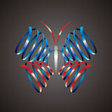 Abstract form of butterfly Royalty Free Stock Photography
