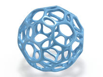 Abstract form 3d rendering. On white Stock Images