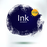 Abstract form ink blob, hand drawing art Stock Photography