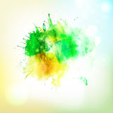 Abstract form watercolor spalsh at sky background Stock Images