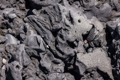 Abstract formation of volcanic rock vik beach iceland Royalty Free Stock Images