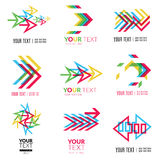 Abstract forms logos Stock Photo