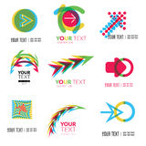Abstract forms logos Stock Image