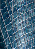 Abstract Forms. Of sun reflections in glass building stock photo