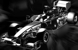 Abstract formula one. Chrome formula one car on an abstract background Royalty Free Stock Photo