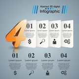 Abstract four 3D digital illustration Infographic. Business Infographics origami style Vector illustration. eps 10 vector illustration