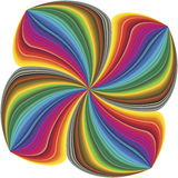 Abstract four leave clover. Floral design in vector art in full color spectrum Royalty Free Stock Photography