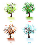 Abstract four season trees Royalty Free Stock Photography
