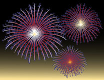 Abstract Fourth of July Fireworks Royalty Free Stock Image