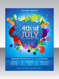 Abstract fourth of july flyer template Stock Photography