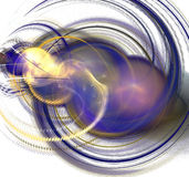 Abstract Fractal. An abstract purple and blue fractal Stock Photo