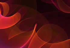Abstract fractal. Abstract red, orange and magenta fractal on dark background Stock Photo