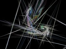 Abstract fractal with the accumulation of multi-colored rays Royalty Free Stock Photos