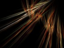 Abstract fractal with the accumulation of yellow rays Royalty Free Stock Photography