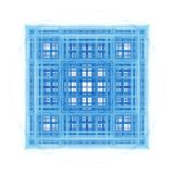 Abstract Fractal Architectural Cubes Stock Photo
