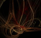 Abstract fractal art background illustration space geometry. royalty free illustration
