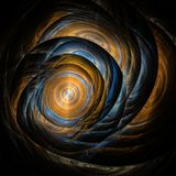 Abstract fractal art color blue and brown royalty free illustration