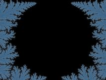 Abstract fractal backdrop with blue frosty patterns stock photography