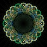 Abstract Fractal Background. A colorful and complex abstract fractal pattern Royalty Free Stock Image