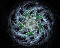 Abstract fractal background. Twirled star on a dark background Royalty Free Stock Images