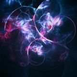Abstract fractal background black energy stock illustration