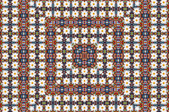 Abstract fractal background - camomiles and beads Royalty Free Stock Image