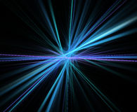 Abstract fractal background with centered rays texture Stock Photography