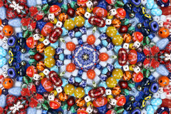 Abstract fractal background - colorful beads Stock Image